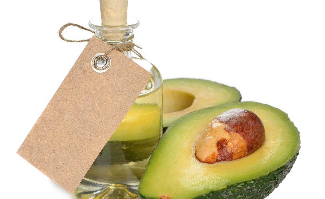 avocado oil on a white background