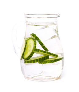 Refreshing drink on a white background