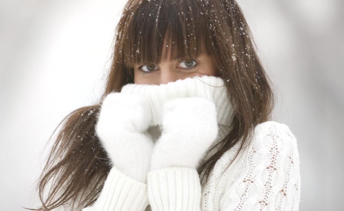 winter portrait of beauty woman