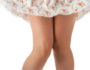 woman legs and shoet romance skirt over white
