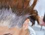 Hair dye macro. Female hair, beauty salon.