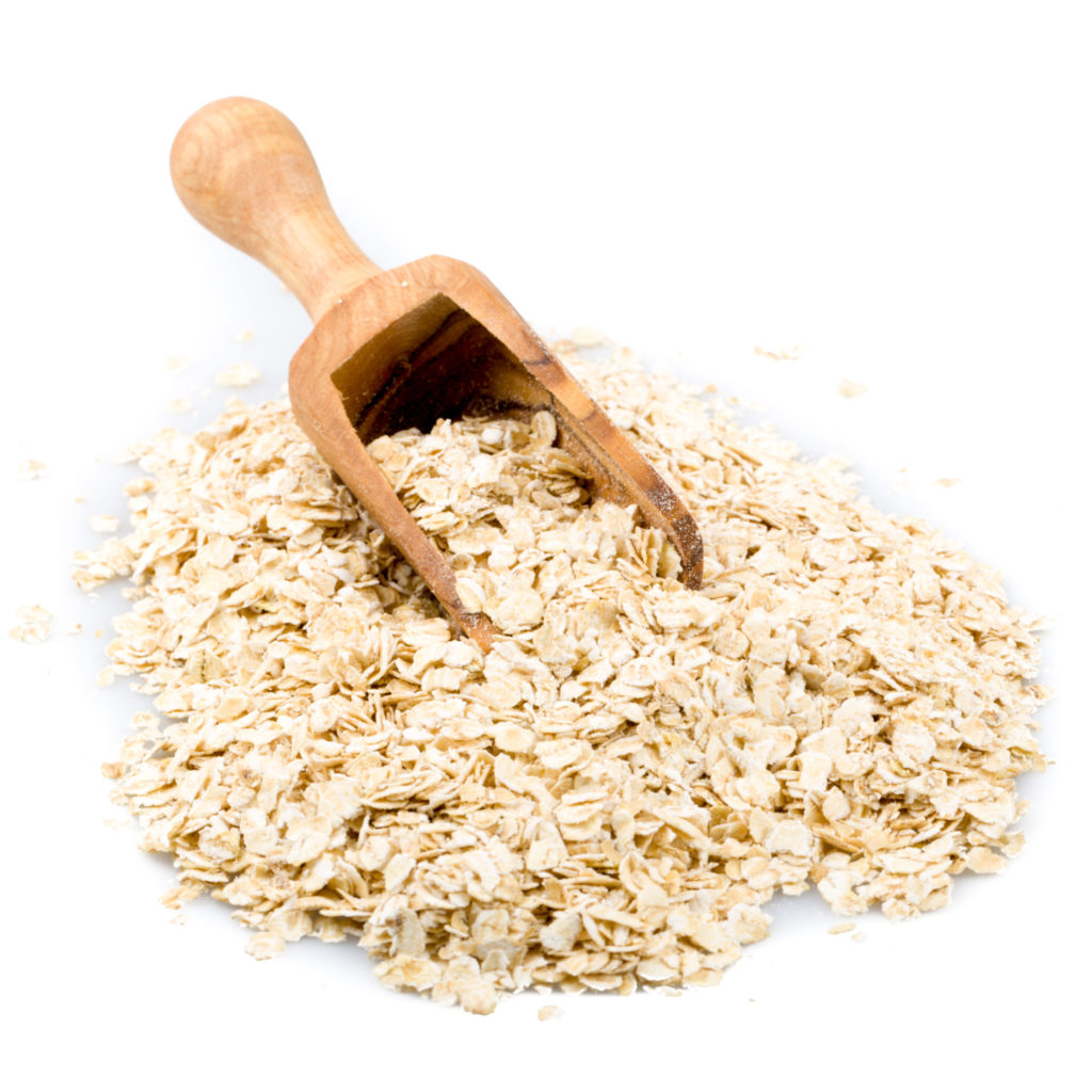 pile of oatmeal with white background